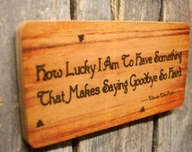 How Lucky I Am Winnie the Pooh Cute Sign