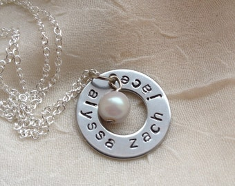 Sterling silver customizable 3 name charm