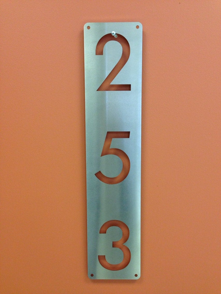 Custom stainless steel address house numbers street sign made for House numbers