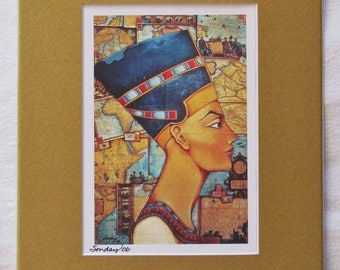 Fine Art Matted Print, Queen of the Nile by Joseph Sonday