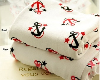 Terry Cloth Fabric Anchor in 2 Colors By The Yard