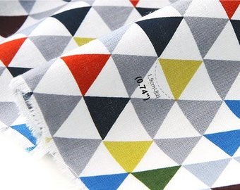 "Cotton Fabric 0.75"" (1.9 cm) Triangle Gray By The Yard"