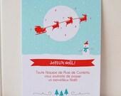 DIY Editable Printable snowy Christmas greeting card / invitation - Instant download