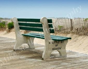 A Little Bit Of Heaven, Bench, Point Pleasant, N.J., Jersey Shore, 8x10 Inch Print