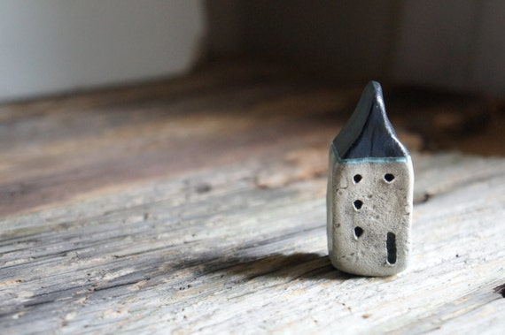 Miniature Cob House - Hand Sculpted Clay House - Rustic - Ready To Ship