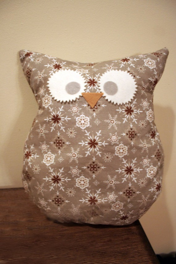 Cute owl pillows Large Mutiple patterns by DeVitaDesigns on Etsy