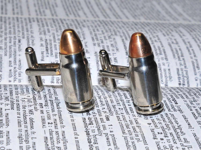 Bullet slug cuff links
