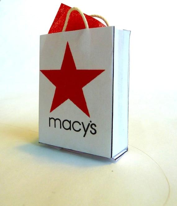 macys dollhouse shopping bag with tissue
