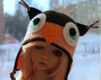 """PRE-ORDER  Knitting cap """"Owl"""" for YoSD BJD doll"""