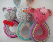 Crochet rattles - pattern PDF document.