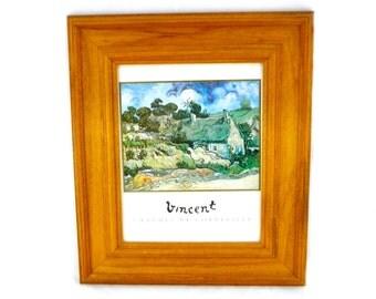 Vintage Framed Chaumes de Cordeville à Auvers-sur-Oise Print by Vincent van Gogh