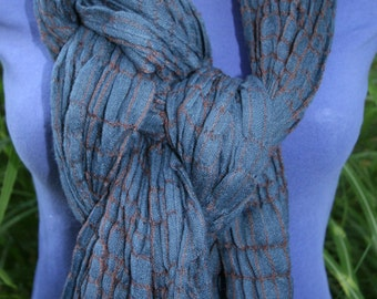 Scarf Super Soft and Light Blue Waffle Scarf Wrap