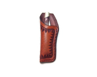 SMALL CUSTOM LEATHER Knife sheath with belt loop