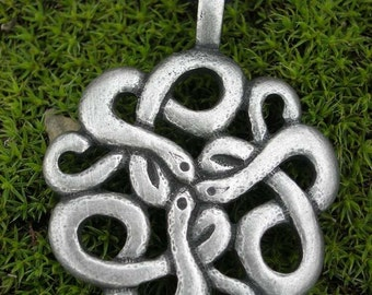 CELTIC KNOTTED SNAKE Pendant Amulet Necklace Snakes