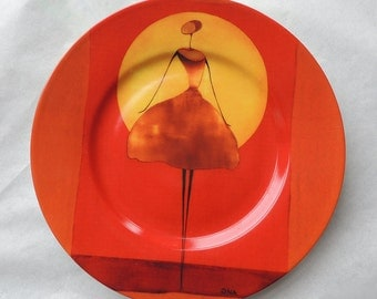 THIERRY ONA, Moonlight  - Porcelain Plate