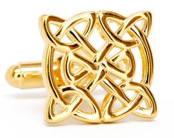Gold Celtic Knot Cufflinks Cuff Links