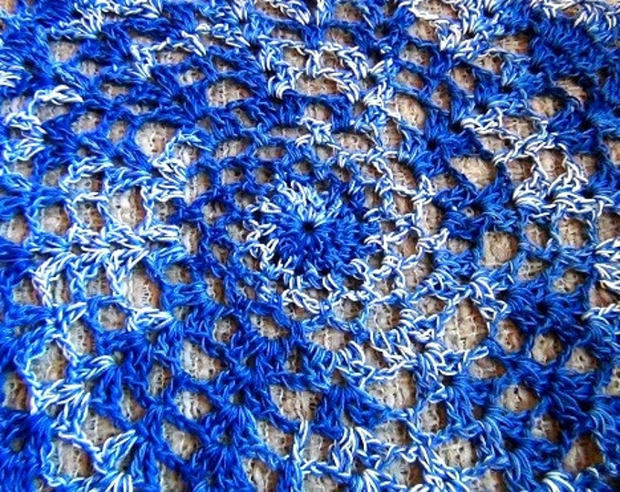 Doilies - Crochet Doilies - Blue Doilies - Table Doily set of 2