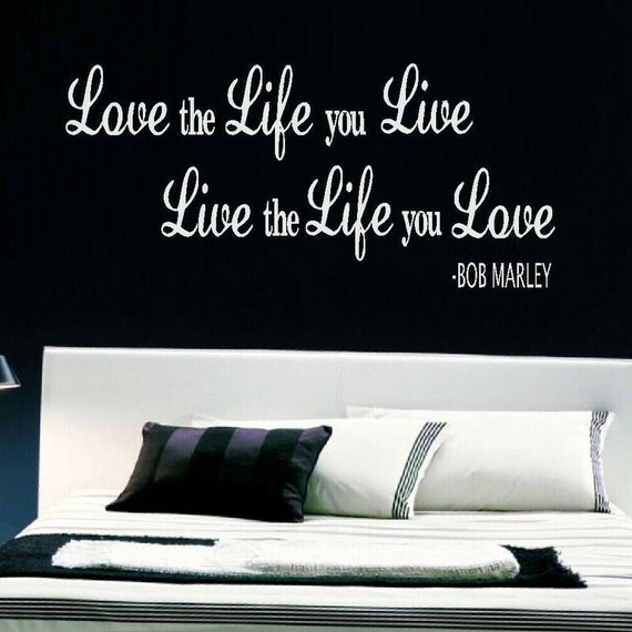 Bob marley love life live wall mural sticker transfer vinyl for Bob marley wall mural
