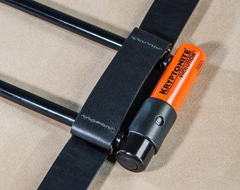 Leather U-lock holder