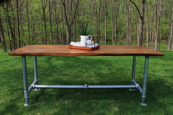 Industrial Farmhouse Table Reclaimed Wood from 1870 s