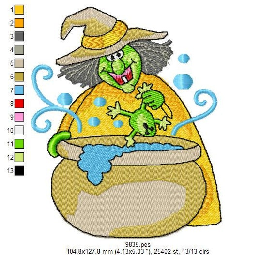 Jumbo Witchy Halloween Embroidery Designs - INSTANT DOWNLOAD 20 Designs