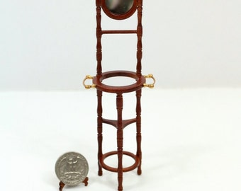 "Miniatrue 1:12 Scale ""Old Time"" Wash Stand For Doll House"