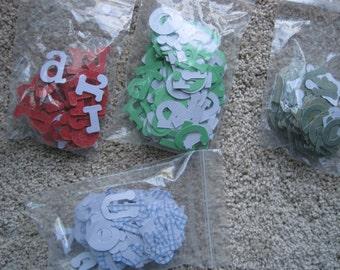 Scrapbooking Chipboard Alphabet Assorted Colors