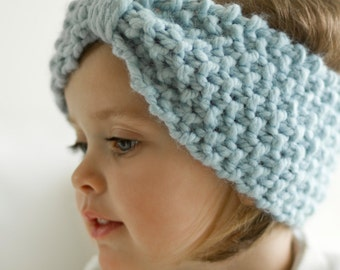 Choose your color / Girls chunky HEAD BAND / ear warmer / hand KNIT / made to order / toddler, girls, teen