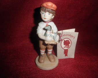 Applause  Boy Figurine Wallace Berrie  with Tag