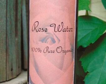Rose Water Natural Rose Water 100% pure, Rose Hydrosol. Pure rose distillate, 8oz
