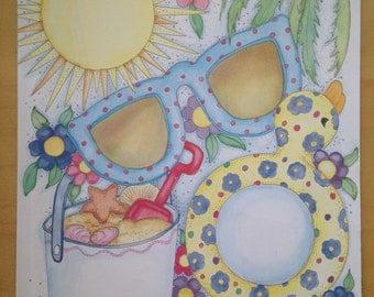8.5x11 Summer Frames Paper