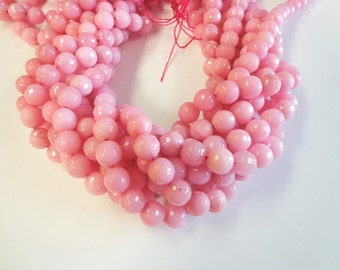 Beautiful Light Pink Faceted Jade