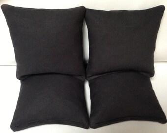 CORNHOLE BAGS 4 Black Duck Cloth Regulation Bags