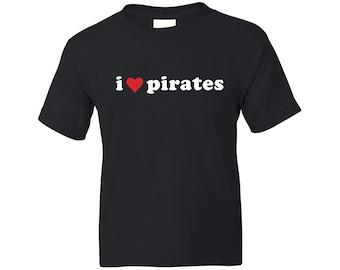 Kids Pirate Shirt - I Heart Pirates 2