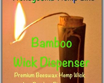 Bamboo Hemp Wick Dispenser