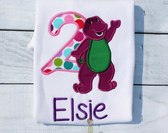Purple Dinosaur Inspired Birthday Shirt, Barney and Friends Birthday Shirt, Barney birthday Party