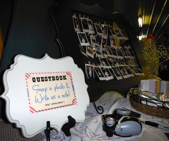 Wedding photo guestbook sign for a country party