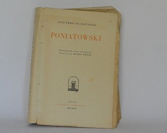 old nonfinction book Poniatowski