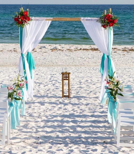 Items Similar To Beach Wedding Bamboo Arbor Arch Chuppah