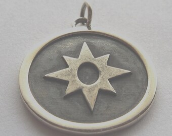 Star Sapphire (Love) Corps Green Lantern Pendant Sterling Silver 925