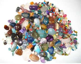 Treasure Hunt Lot Wholesale 2200 Carats of Gemstones, Contains Over 500 Polished Gemstones For Hours Of Fun Or Creating Variety Of Jewelry