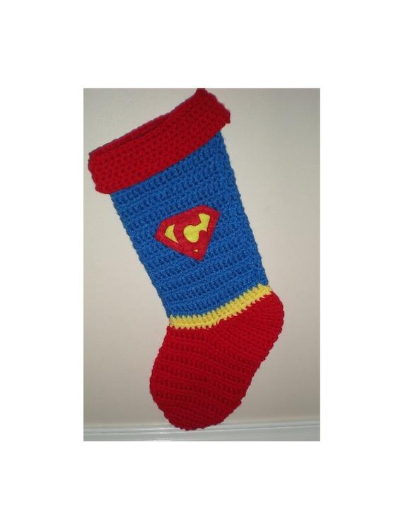 Superman Stocking Super Girl Stocking Super Hero Christmas