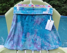 Be Everything! In This Size Medium Hand-Dyed Yoga Maxi Skirt with aqua/pink/purple blue tie-dye pattern.Wear over leggings,shorts, or as!