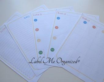 Perpetual Calendar Planner Kit - Letter Sized