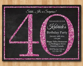 items similar to printable th birthday invitation card, th, Birthday invitations