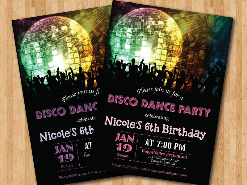 Birthday Disco Invitation Orderecigsjuiceinfo - Disco birthday invitation templates free