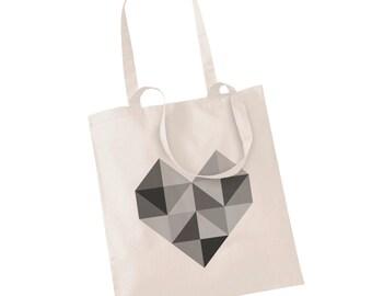 Jute bag ' heart'