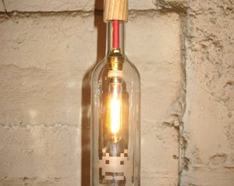 Space Invaders upcycled bottle lamp