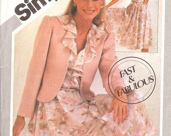 Simplicity 5364 Misses pullover dress and jacket sewing pattern ID34