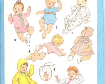 Simplicity 9515  Baby1980 Pattern - New Born  Size Baby Ensemble    ID223
